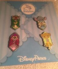 DISNEY TRADING PIN PACK DISNEY BABIES STITCH, BAMBI, CHESHIRE CAT, SIMBA
