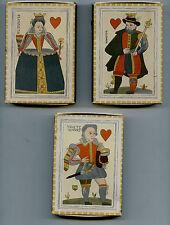 3 grosses boîtes d'allumettes S.E.I.T.A.Repro cartes à jouer coeur XVII°s.(1960)