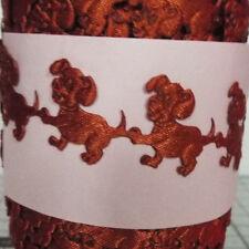 1 M-Marrón Cachorros, Raso Corsé Cinta-recorte, Apliques, tarjeta de Arte Decoración