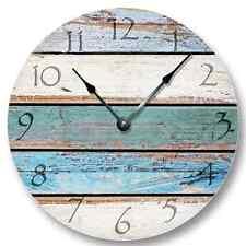"10.5"" Weathered Beachy Boards Wall CLOCK - Shabby Beach Wall Home Decor 7111_FT"