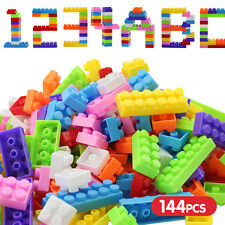 140Pcs Plastic Children Kid Puzzle Educational Building Blocks Bricks Toy Animal