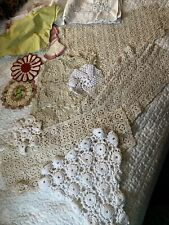 New listing Vintage Crochet Doilies Linens Lot 14 assorted sizes, Great Unique Items Vg Cond