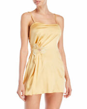 La Perla Paisley S Silk Chemise Baby Doll Short Gown Gold Yellow