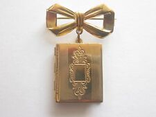 Vintage Locket with Bow Pin