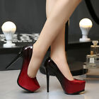 Red New Women's PU Party High Heels Club Platform Pumps Party Dress Shoes C