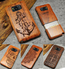 Real Natural Wooden Wood Bamboo Phone Case Cover for Samsung GALAXY S9 /S8 Plus