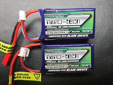 NANO-TECH 450mAh 3S 11.1V 65-130C LIPO BATTERY BLADE 180CFX MICRO RACE DRONE FPV