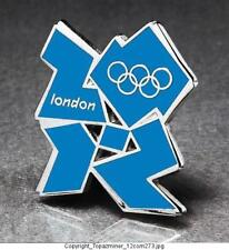 OLYMPIC PINS BADGE 2012 LONDON ENGLAND UK CUT-OUT LOGO BLUE