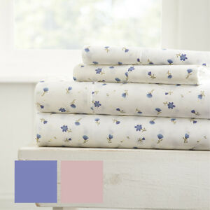 Hotel Collection Premium Soft Floral Pattern 4 Piece Bed Sheet Set by iEnjoy