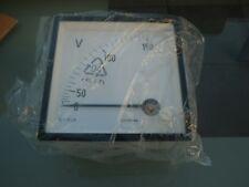 Siemens Spannungsmesser 150V AC Analog Einbau Quadratisches Anzeigegerät