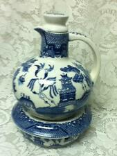 Vintage, Rare, Made in Japan, Large 8.5in x 7.5in Blue Willow Carafe with Warmer