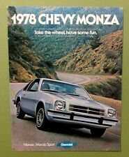 1978 CHEVY MONZA Sales Brochure Spyder Sport Coupe Hatchback  12 pages