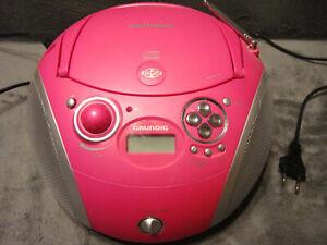 Pink Radio CD Player Lady Girl Payer Grundig RCD 1445 USB MP3