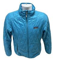 Patagonia Nano Puff Women's Primaloft Puffer Lightweight Jacket Blue Size Small
