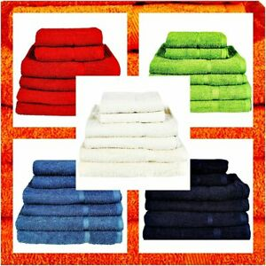 Luxury Face Hand Bath Towels Sheets 100% Egyptian Cotton Combed Stripe Bale Sets