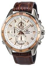 Casio Uhr Edifice Herren EFR-547L-7AVUEF Lederband braun