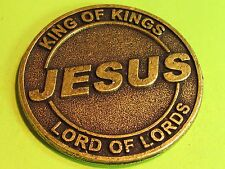 Jesus  large bronze medallion .... combine shipping 1 to 10 coins for $2.60