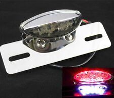 LED Motorcycle Quad ATV Running Brake License Plate Integrated Tail Light Bobber