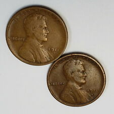 Lot of 2 1911 S D US Lincoln Wheat Penny One Cent .01c Better Date Coin 9LWP1119