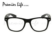 Black Frame and Clear Lens Unisex Wayfarer Style Fashion Glasses Gloss Finish