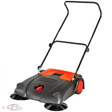 Floor garden push sweeper manual cleaner quad brush outdoor yard patio 20L new