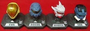 McFarlane Toys Halo 3 Mini Helmets Rouge, EOD, HAYABUSA, EVA Blue Red Gold