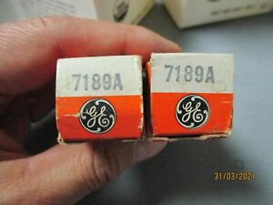 2  GE   RCA    sylvania 7189A    NOS   in   BOX