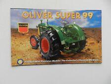 Franklin Mint OLIVER SUPER 99 Tractor Brochure Pamphlet Mailer