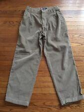 Vintage Chaps Ralph Lauren Men's Pleated Front Tan Corduroys Size 34 x 30 EUC