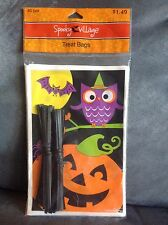 HALLOWEEN TREAT BAGS 40 COUNT FOR TRICK OR TREAT - PUMPKINS, OWL AND BAT - NEW