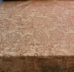 Upholstery Chenille Covington Kelso Brown Blaze Paisley Fabric By The Yard