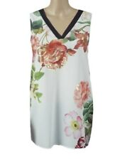 Marks & Spencer Per Una Floral Print Sleeveless Tunic with Plain Black Back