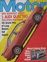 Motor magazine 21/3/1981 featuring Audi Quattro road test