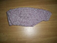 New hand knitted textured raspberry marl dog jumper/coat with collar.Small.