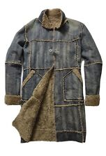 Vintage | Teddy Smith | Denim Coat | Long Line | Sherpa | Borg | RARE | XL