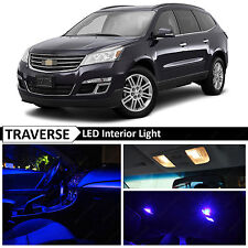 18x Blue Interior LED Lights Package Kit for 2010-2015 Chevy Traverse