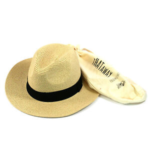 Unisex Foldable Panama Trilby Style Hat in a Bag
