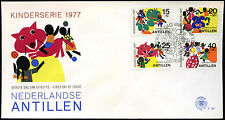 Antille olandesi 1977 il benessere dei bambini FDC primo giorno Coperchio #C 26668