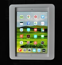 iPad Air 1/2 White Acrylic Security VESA Enclosure w Wall Mount Kit