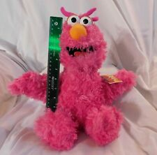 """Sesame Street Collectors: New 17"""" Happy Pink Telly Monster Plush Place Rare"""
