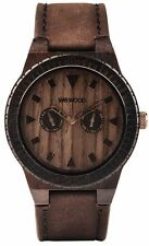 Limited Release WeWood Leo Leather Chocolate 100% Natural Wood Wooden Watch