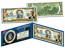 RONALD REAGAN * President 1981-1989 * Colorized $2 Bill US Genuine Legal Tender