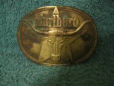 Solid Brass Marlboro Belt Buckle/1987