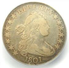 1801 Draped Bust Half Dollar 50C Coin - Certified ICG VF30 - $4,120 Value!