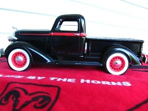 Black 1936 Dodge Pickup die cast coin bank by SpecCast