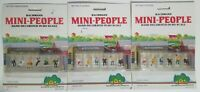 Bachmann HO Scale Small People Sitting Figures Passengers Trains Lot of 3