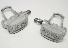 VINTAGE LOOK ARC BICYCLE GRAY CLIPLESS ALLOY ROAD PEDALS  9/16 X 20 TPI