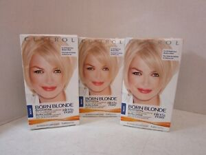 3 CLAIROL BORN BLONDE MAXIMUM BLONDING ALL SHADES FROM BLONDE TO BLACK MM 20035