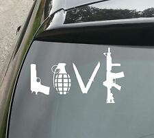 Gran Love Gun Funny car/van/window Jdm Vw Dub euro Vinilo calcomanía adhesivo