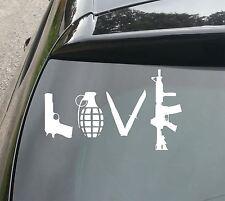 LARGE LOVE GUN Funny Car/Van/Window JDM VW DUB EURO Vinyl Decal Sticker